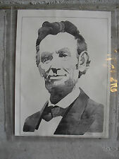Vintage 1970s Print - Abraham Lincoln Bust from Warren Company
