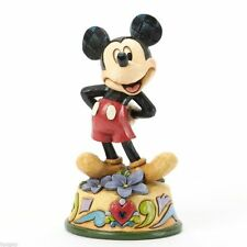 Disney Jim Shore Mickey Mouse February Birthstone Month Figurine #4033959