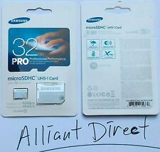 NEW Samsung 32GB PRO Micro SDHC w/ Adapter Up to 90MB/s Class 10 Memory Card USA