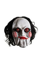 Deluxe Billy the Puppet Saw Film Latex Mask Fancy Dress Accessory P9712
