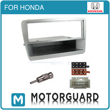 HONDA CIVIC CD RADIO STEREO FACIA FASCIA PANEL SURROUND FITTING KIT SILVER