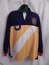 VTG 90s Ralph Lauren Polo Rugby Embroidered RLYC  & RYC Crest Pullover Shirt L