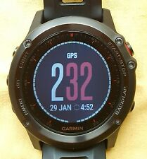Garmin Fenix 3 Grey Triathlon Multi-Sport GPS Watch altimetro, barometro, bussola