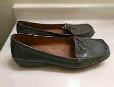 Natural Soul Cadby Leather Gray Womens Flats Shoes Moccasins Siz 10M US