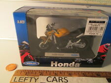 SCALE Yellow,Silver,&Black HONDA HORNET MOTORCYCLE 1:18 (HAS BOX WEAR!)