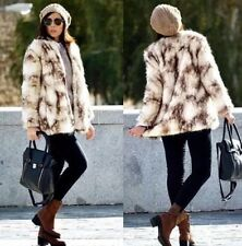 Rare M_NWT ZARA FAUX FUR JACKET COAT Animal Print Lizzy Caplan REF. 5070/229