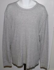 Old Navy Classic Thermal Knit Long Sleeve Shirt Mens XL Crew Light Gray