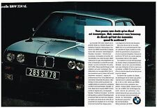 Publicité Advertising 1987 (2 pages) Nouvelle BMW 324 td