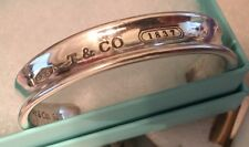 Tiffany & Co. Sterling Silver T & Co. 1837 Men Women Bracelet Cuff SZ M