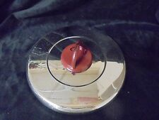 """VINTAGE Signature T-FAL Lid Open/Close Red Metal Slide Steam Excape 7"""" Round"""