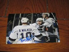 BEN WALKER AUTOGRAPHED WINNIPEG JETS 4X6 PHOTO # 1