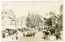 RPPC NY Earlville Fire Department Band in July 4th Parade Madison County