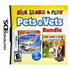 Kids Learn & Play: Pets & Vets (Nintendo DS, DSI, DS Lite, 3DS) - CARTRIDGE ONLY