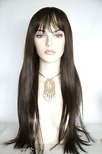 Chestnut Brown Brunette Long Straight Wigs