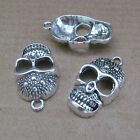 6pc Tibetan Silver Skull Heads Mask Pendant Charms Findings Accessories B647P
