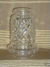 VINTAGE CUT CRYSTAL GLASS SHADE TOP FOR TABLE LIGHT LAMP