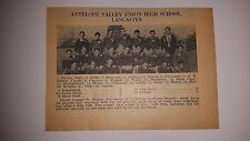 Antelope Valley Union High School Lancaster California 1928 Football Team Pictur