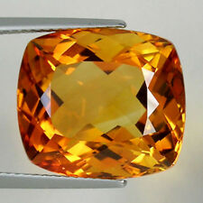 14.86ct ALLURING  BEST GRADE GOLDEN ORANGE NATURAL CITRINE SQ CUSION  # 1083