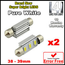 2X WHITE 39MM 3 SMD 239 272 C5W CANBUS ERROR FREE FESTOON LED LAMP LIGHT BULBS