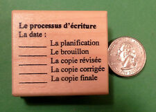 """Composition Editing"" - French Teacher's Rubber Stamp"