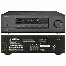 Sherwood RX 4105 200-W Stereo Receiver Black AM/FM Tuner 2-Ch 30-Station Presets