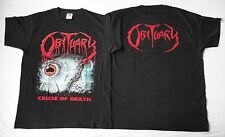 OBITUARY ,,CAUSE OF DEATH,, OFFICIAL ORIGINAL T-SHIRT UNIQUE T-SHIRT ALL SIZE