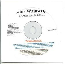 RUFUS WAINWRIGHT Milwaukee At Last UK numbered/watermarked promo test CD sealed
