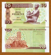 Andorra, 10 Pessetes, 2015, Private Issue, Essay / Specimen UNC