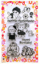 Baby and toddlers ~ clear stamps set vintage FLONZ 158 rubber acrylic