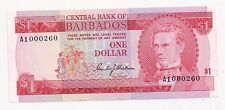 Central Bank of Barbados 29 One Dollar CU No Date World Currency Caribbean