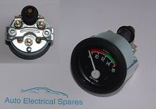"NEW 12v 2"" 52mm 8-16 voltmeter gauge ILLUMINATED for BOAT BARDGE etc"