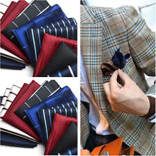 Lot 5 Pcs Silk Handkerchief Mens Pocket Square Paisley Polka Hanky 101 colors