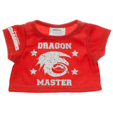 Build a Bear Clothing - New - Dreamworks Dragons - Red Dragon Master T-Shirt