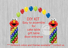 Elmo Sesame Street BALLOON ARCH with COLUMNS Birthday Party Decorations