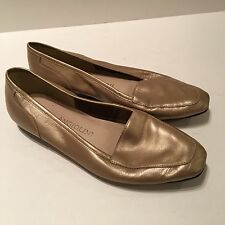 Enzo Angiolini Woman's Flats Liberty Gold Leather Sz 6