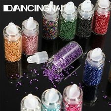 12X Micro Perle Perline Nail Art Manicure Unghie Design Decorazione Multicolore