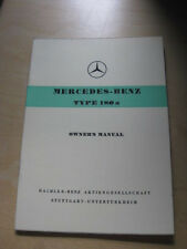 Mercedes Benz .Owners Manual , Typ 180 a  - Orginal -   1958   !!
