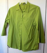 New! Easy Care Green 3/4 sleeve button up top size might be L