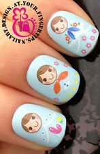 NAIL ART WRAP WATER TRANSFERS STICKERS DECALS SET RUSSIAN DOLLS FLOWERS #60