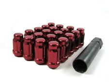 "24 Pc Set Spline Tuner Lug Nuts ¦ 1/2"" ¦ Red ¦ Jeep Cherokee Wrangler TJ"