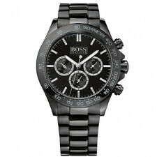 Hugo Boss 1512961 Men's Black Chronograph Tachymeter Stainless Steel Watch
