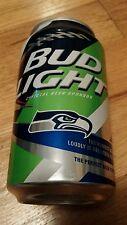 Bud light Seahawks aluminum beer can 2015 kick off football bottom opened