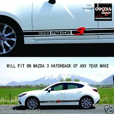 Rock Panel Decal Stripes Fits MAZDA 3 Sports Hatchback 2006 2007 2008 2009 to 15