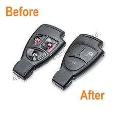 Complete refurbishment for Mercedes 3 button remote smart key SAME DAY REPAIR