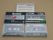 TDK , scotch,octave,no nameBlank Audio Cassettes lot of 5