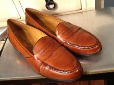 Johnston and Murphy Brown distressed look leather Penny Loafers Men's Sz 12 M