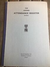 Vintage Unused School Class Teacher Attendance Register Mark Book 60 Names