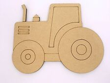 One Wood Wooden Farm Tractor Shape MDF 10cm High Kids Craft DIY Paint Mobile