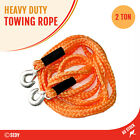 2 Ton 3.5m Towing Rope Tow Cable Heavy Duty Pull Strap Hooks Car Van SUV Ute NEW