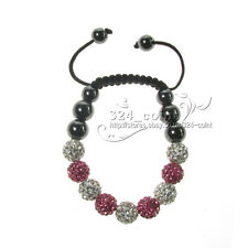 S277 Fashion 27 color Shamballa Bracelet 10MM 9 Disco Crystal Clay Balls gift